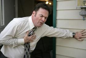 Man with atrial fibrillation or angina pain