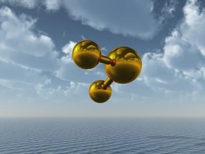 CO2 model above ocean