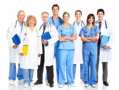 Medical people smiling