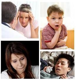 Sick people with chronic diseases