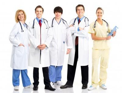 Medical doctors smiling