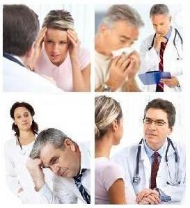 Sick patients and doctors