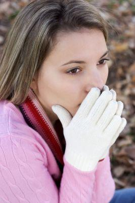 Woman with Raynauds Disease